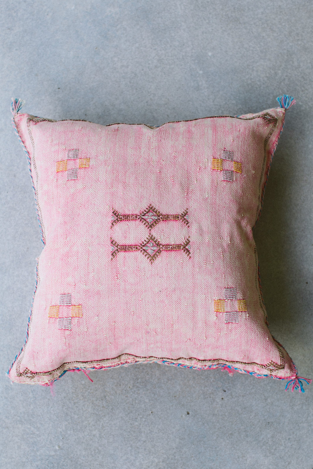Cactus Silk Pillow - Pink #2