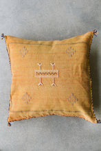 Cactus Silk Pillow - Light Orange with Light Embroidery