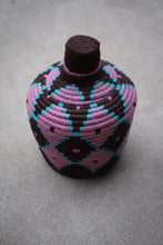 Lidded Basket - Purple Two Tone