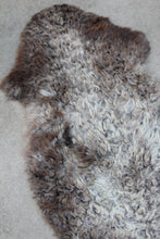New Zealand Sheepskin - Dark Taupe/Gray with White
