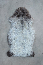 New Zealand Sheepskin - Natural Cream with Black