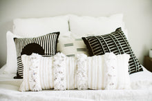Wedding Blanket Long Striped Lumbar Pillow Cover