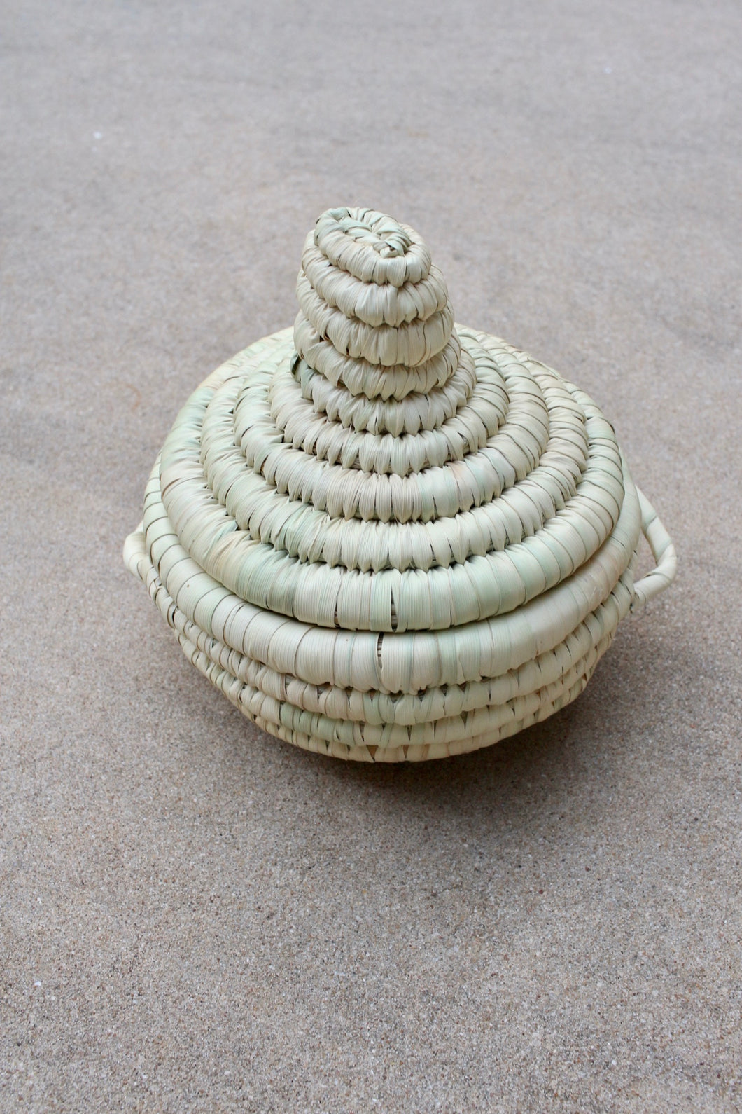 Small Lidded Woven Basket