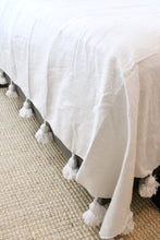 Pom Pom Queen Coverlet -  White
