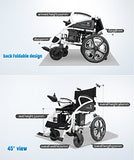 MEDIGLAD - Foldable Lightweight Heavy Duty Electric Power Wheelchair with LITHIUM BATTERY
