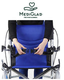 MEDIGLAD - Foldable Lightweight Manual Transport Medical Wheelchair