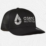 Trucker Hat Curved Brim Snapback Black