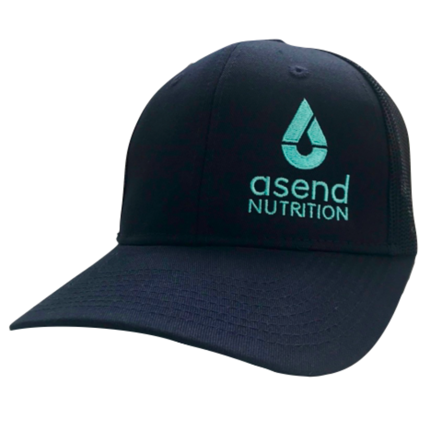 Trucker Hat Teal Asend Logo