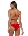 Bomba Bambola BELLA RED RACERBACK STUDDED TRIANGLE TOP