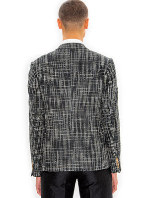 Hiromi Asai Double Jacket in Black & White