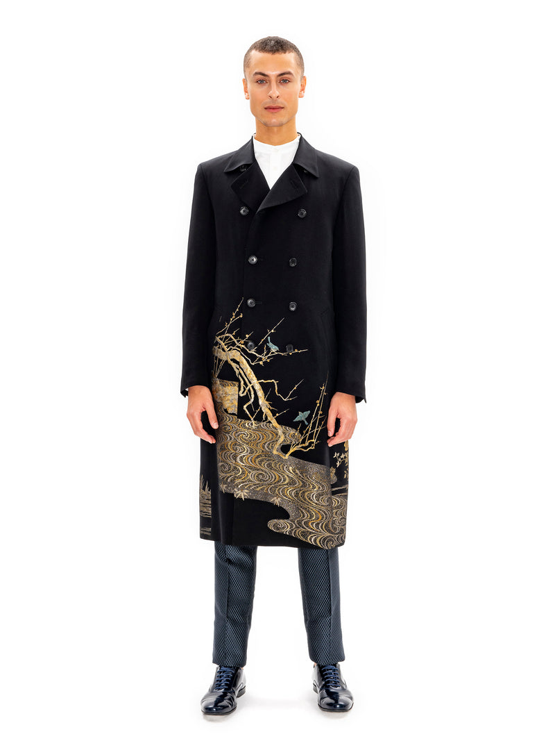 Hiromi Asai Coat With Gold Embroidery