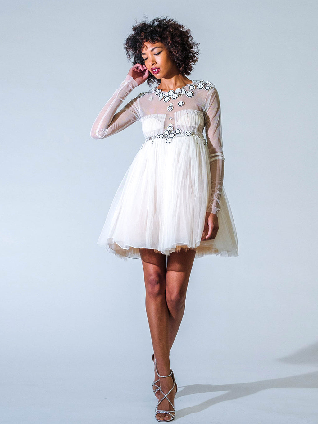 Elmadawy Dress Ivory Embellished Dress
