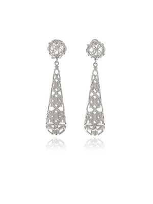 Georgina Jewelry GH0128A Signature Silver Drop Earrings