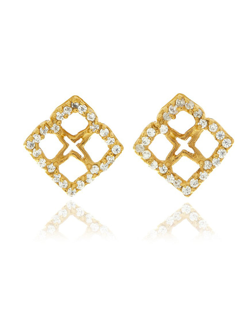 Georgina Jewelry Signature Mini Flower Diamond Earrings