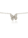 Georgina Jewelry Mini Butterfly Diamond Necklace