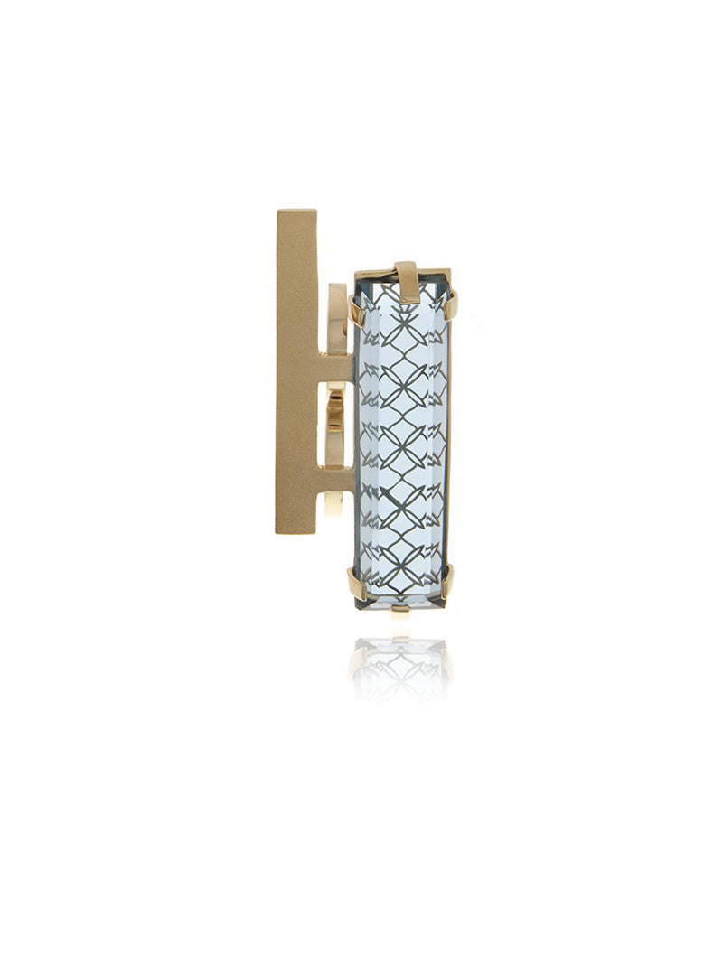 Georgina Jewelry GH017RC Double Bar - Two Finger Crystal Ring