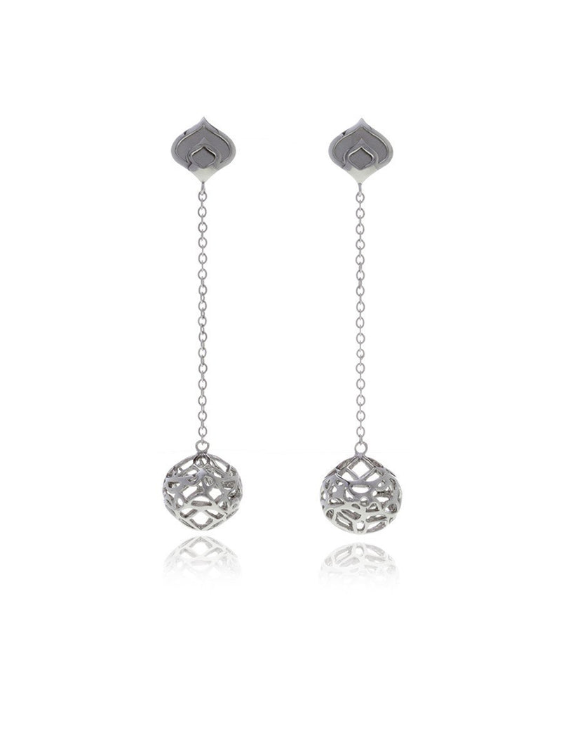 Georgina Jewelry Signature Silver Sphere Long Earrings
