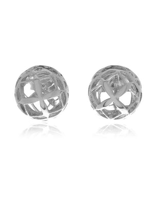 Signature Mini Silver Sphere Earrings