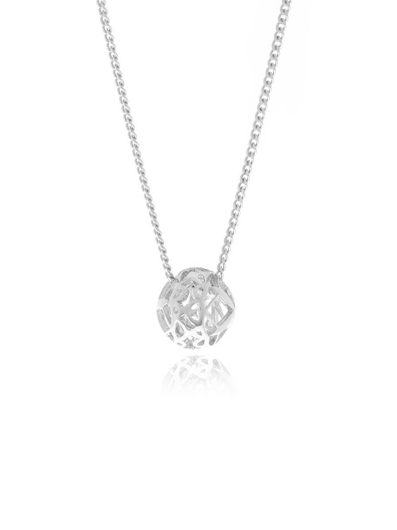Georgina Jewelry GH070P Signature Mini Silver Sphere Necklace