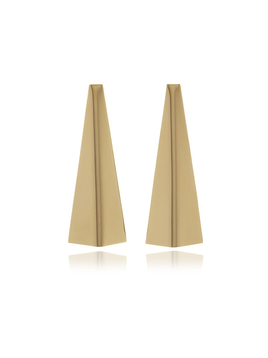 Georgina Jewelry Reverie Smooth Gold Triangle Earrings