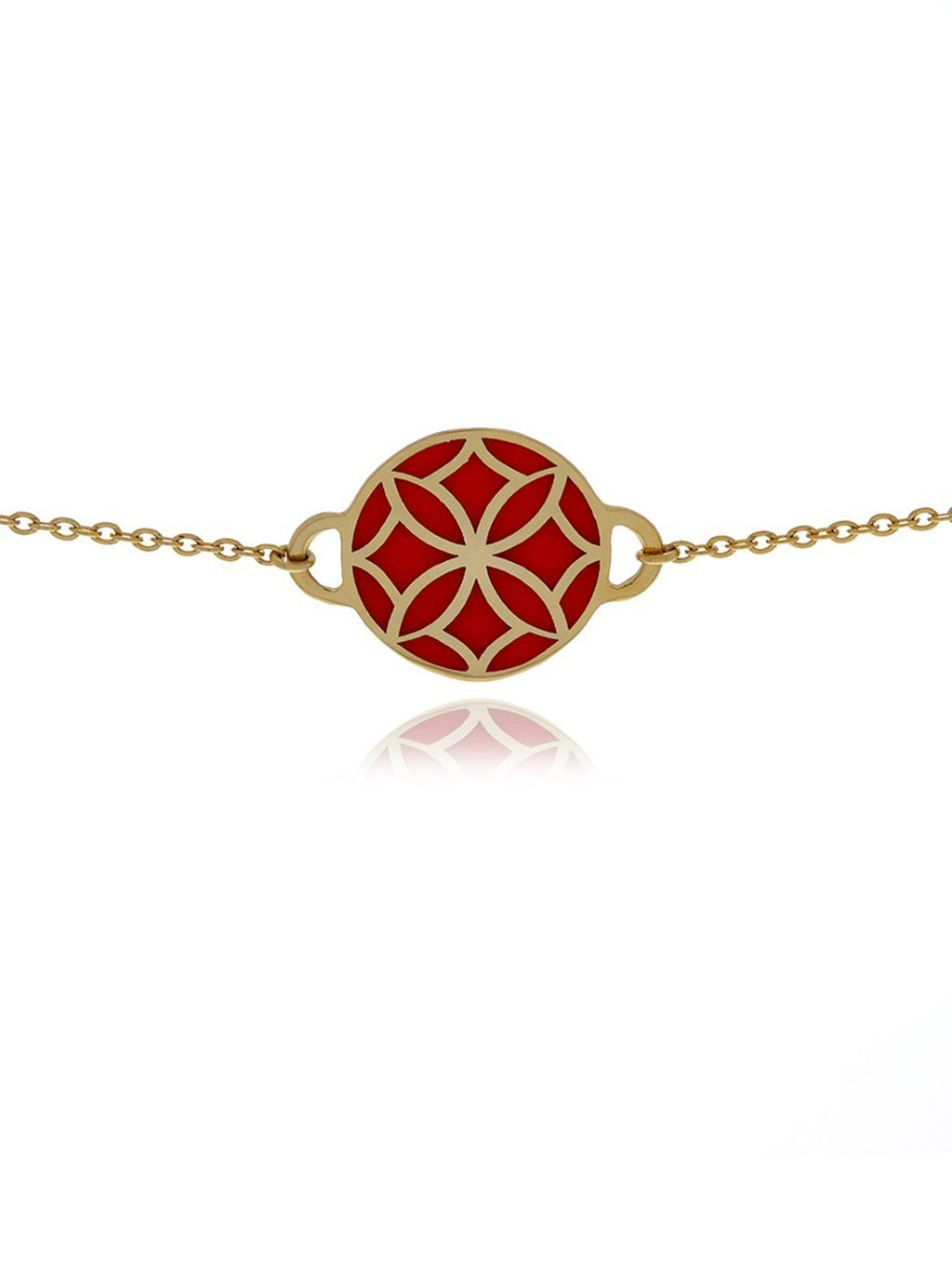 Georgina Jewelry Signature Flower Gold Orange Necklace