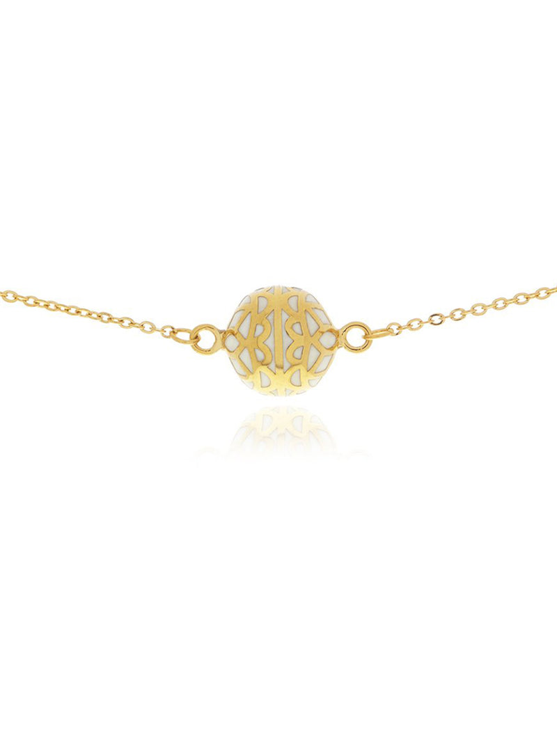 Georgina Jewelry Signature Gold Flower Ball Necklace