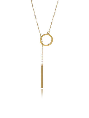 Georgina Jewelry GH071P Reverie Gold Bar Chain Long Necklace