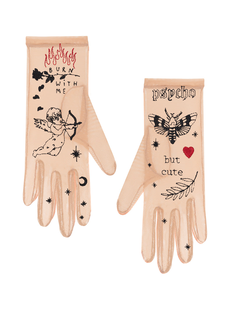 Glove.me Mesh gloves with the embroidery