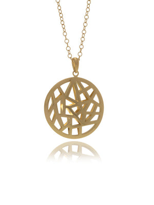 Georgina Jewelry Les Racines Roots Gold Runway Medallion