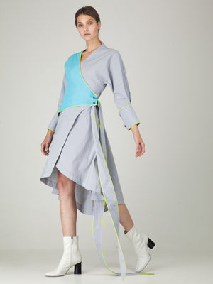 Monosuit Grey & Blue Dalia Mama Dress