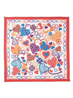 Paisley & Heart Scarf P&H Classic Red