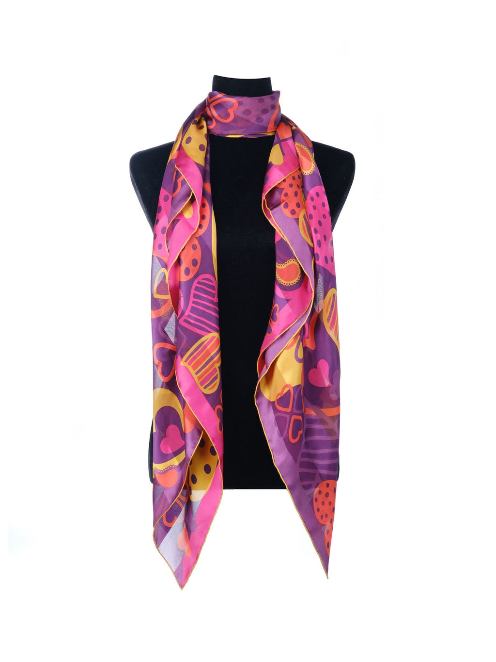Paisley & Heart Scarf P&H Romantic Purple