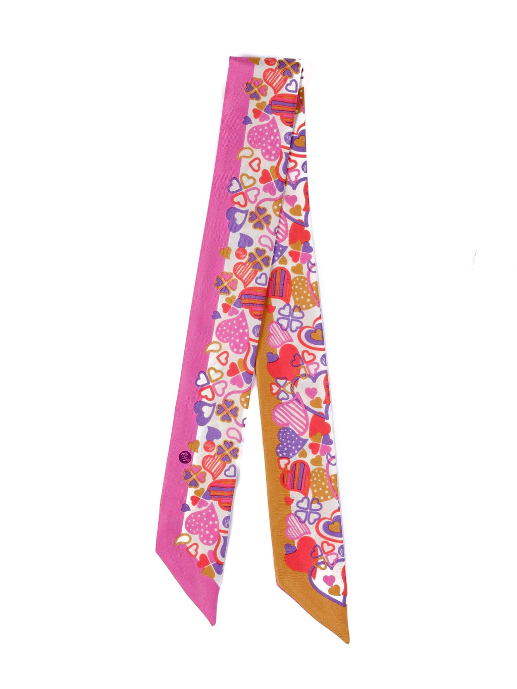 Paisley & Heart Scarf P&H Petite in Pink