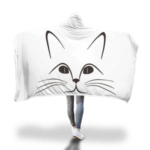 Cat Kitten Face Hooded Blanket