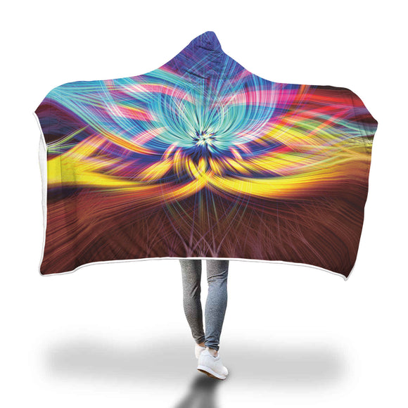 Abstract Fractal Fantasy Hooded Blanket