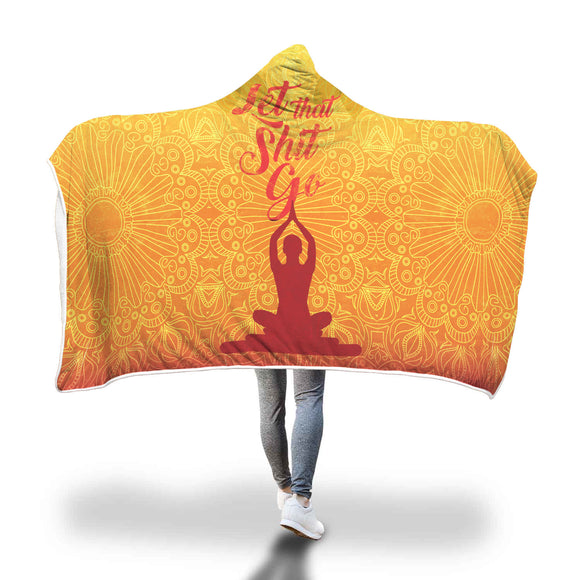 Meditation Inspiration Hooded Blanket