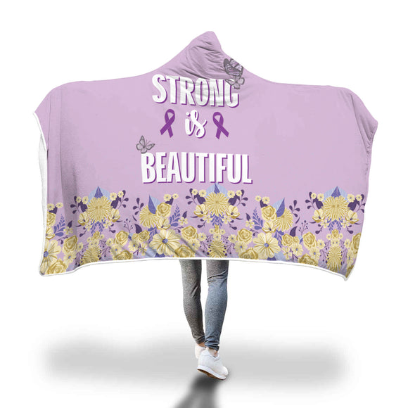 Lupus Support - Strong Is Beautiful - Hooded Blanket