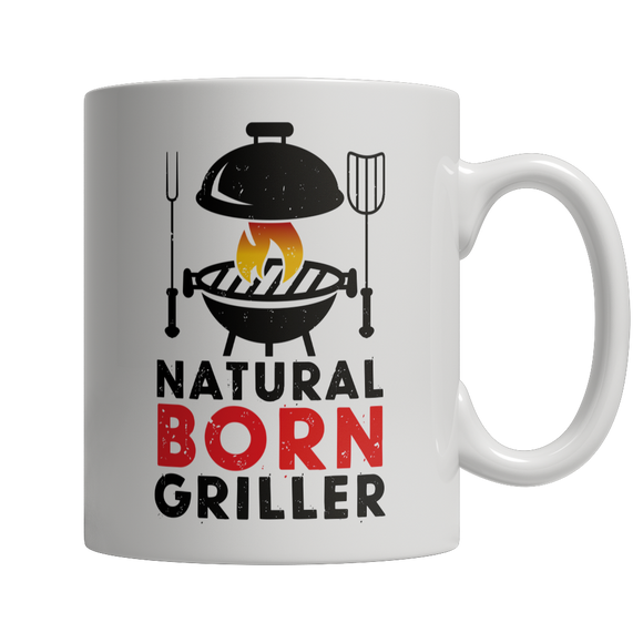 BBQ Grilling 11oz White Ceramic Mug