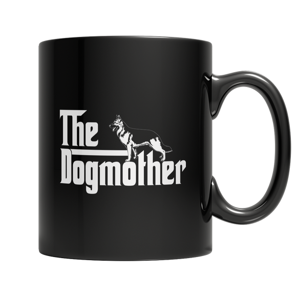 The Dogmother Funny 11 oz Black Ceramic Mug for Dog Lover