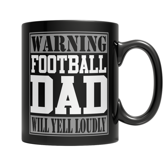 Football Dad 11 oz Black Ceramic Mug