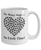 Dog Lovers Gift Ceramic Coffee Mug - White