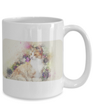 Gorgeous Vintage Victorian-Style Cat Pastel Painting Ceramic Mug