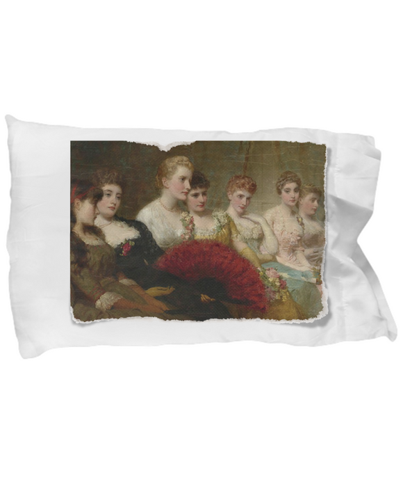 Vintage Portrait of Women's Suffrage Gathering Pillow Case