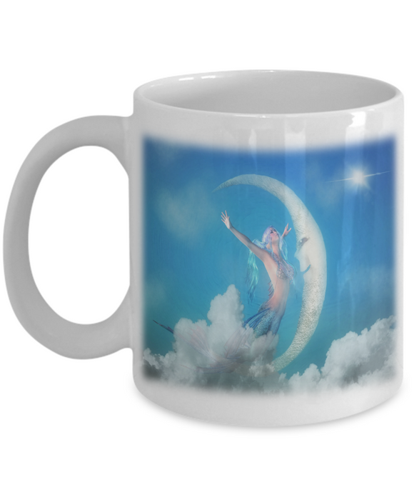 Magical Mermaid White Ceramic Mug