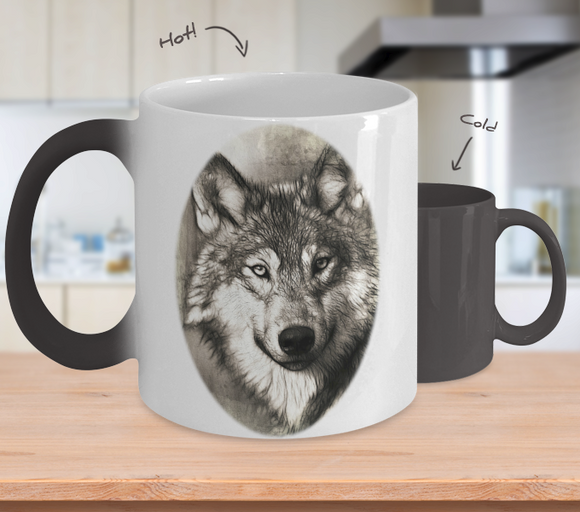 Wolf Magic Mug - Great Gift!
