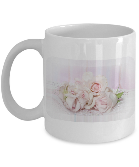 Vintage Romantic Nostalgic Victorian Era Roses Ceramic Mug - Perfect Gift for Mom, Grandma, Friend