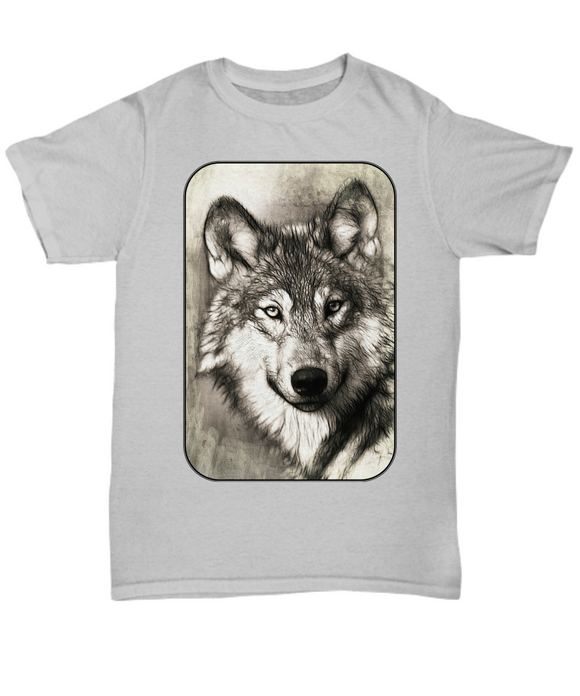 Wolf on Unisex T-Shirt Great for Guys & Gals