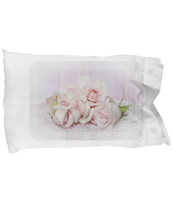 Vintage Romantic Victorian Era Roses Pillow Case