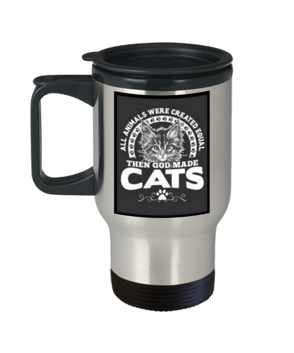 Cat Lover's 14 oz Travel Mug
