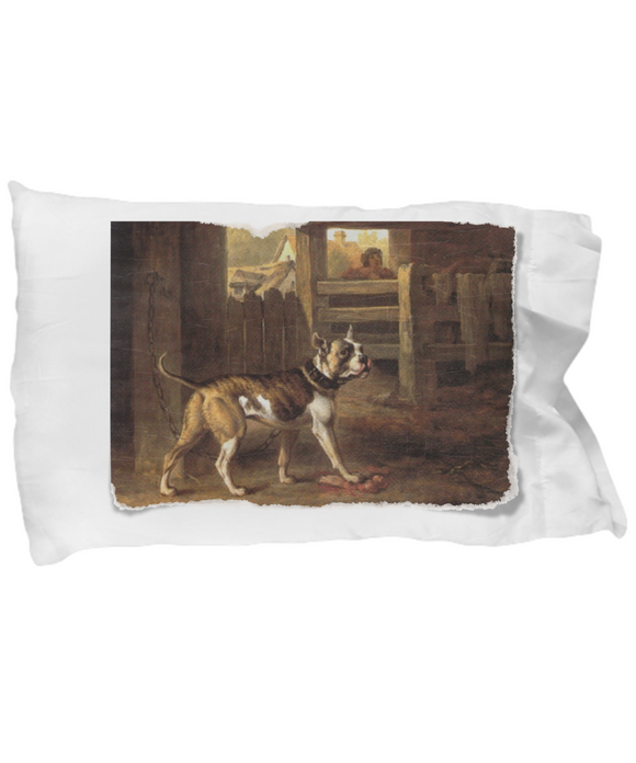 Vintage Victorian-Style Dog Painting Designer Pillow Case